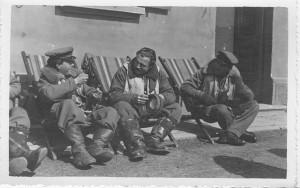 Campo Formido 1944 Visconti con il Ten. Weiss