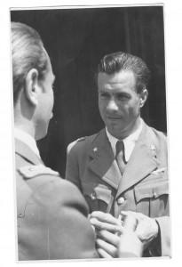 Visconti con il Pilota Sergio Giacomello