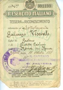 Sottotenente Galeazzo Visconti  Tripolin 1918 fronte - Copia