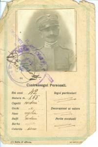Sottotenente Galeazzo Visconti Tripoli 1918 retro - Copia