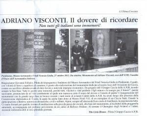Museo del Friuli - monumento ad ADRIANO VISCONTI